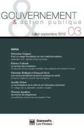 Gouvernement et action publique, 3, 2012
