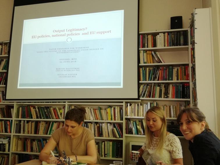 Anja, Kira and Dr Mirjam DAGEFÖRDE, European University Institute, Florence